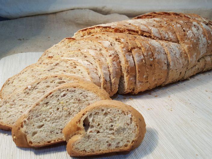 Pan de molde de cereias